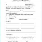 Free Printable Child Guardianship Forms Uk   Form : Resume Examples   Free Printable Temporary Guardianship Form