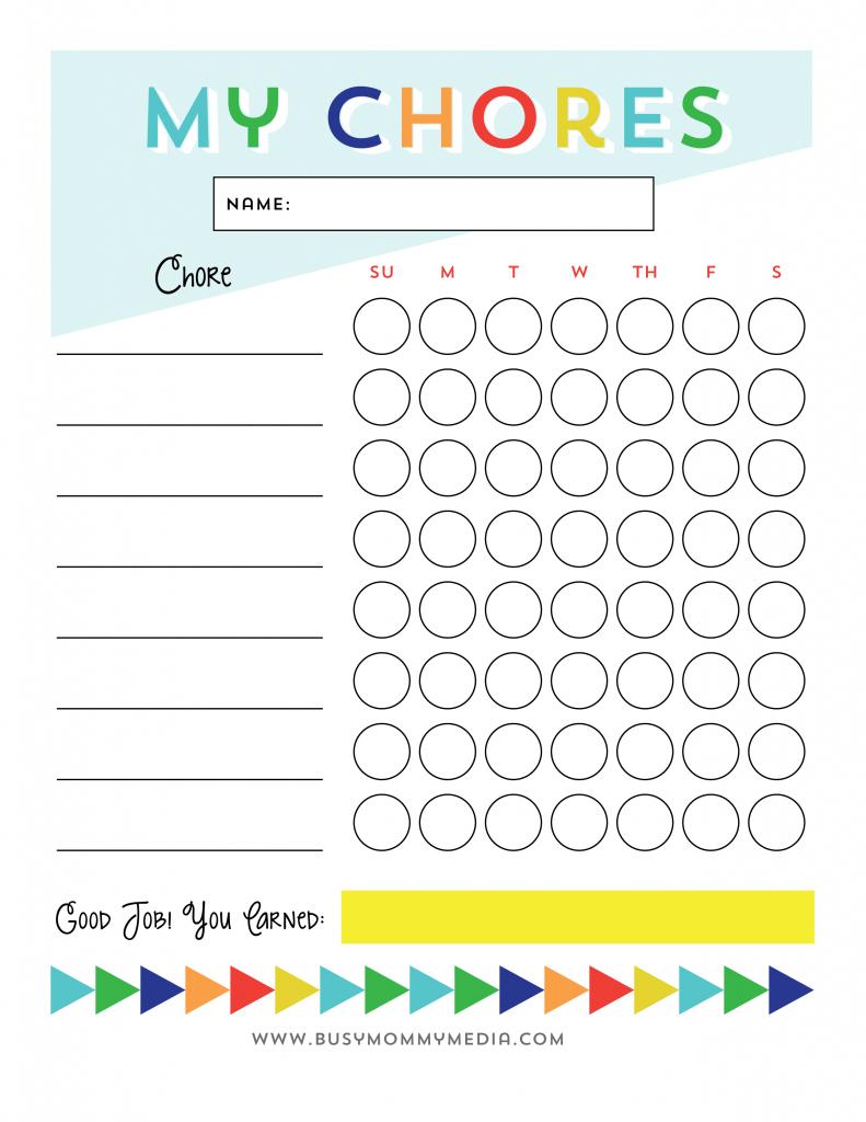 Free Printable - Chore Chart For Kids | Chore Charts | Chore Chart - Free Printable Job Charts For Preschoolers