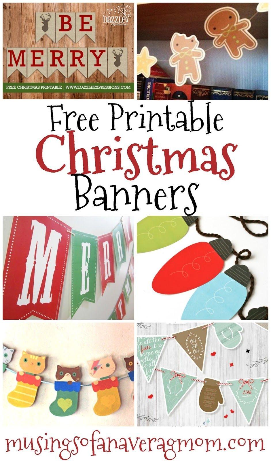 Free Printable Christmas Banners | Banner Letters | Free Christmas - Free Printable Christmas Banner