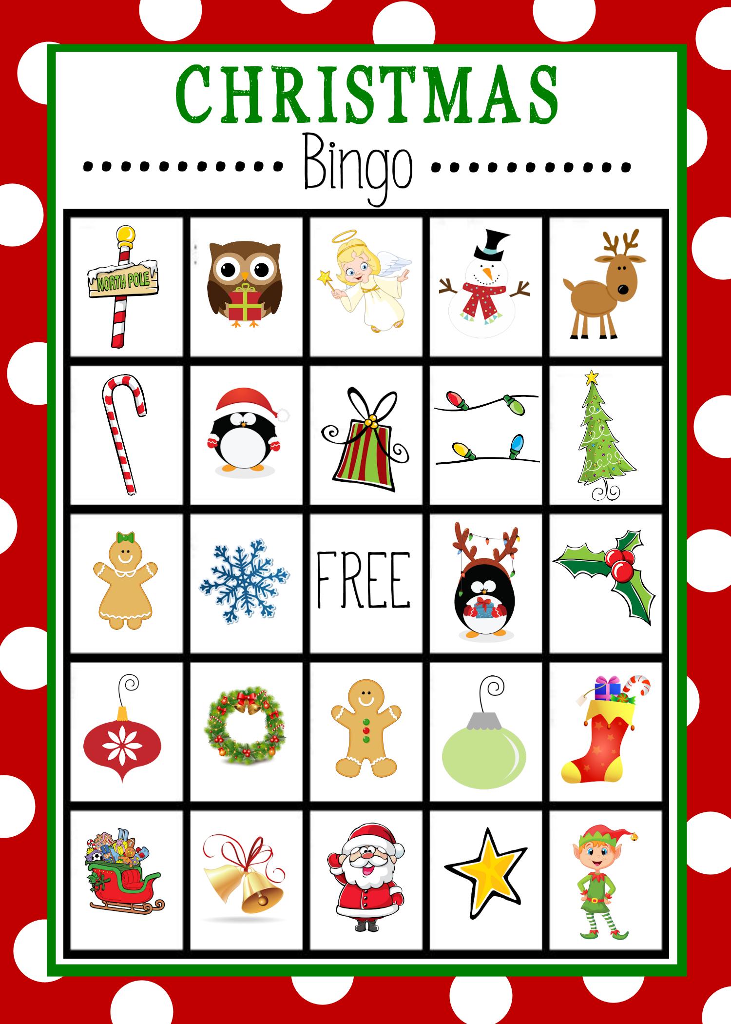 Free Printable Christmas Bingo Game | Christmas | Christmas Bingo - Free Printable Christmas Board Games