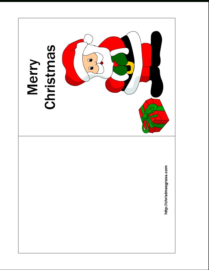 Free Printable Christmas Cards   Free Printable Christmas Card With - Free Printable Christmas Cards