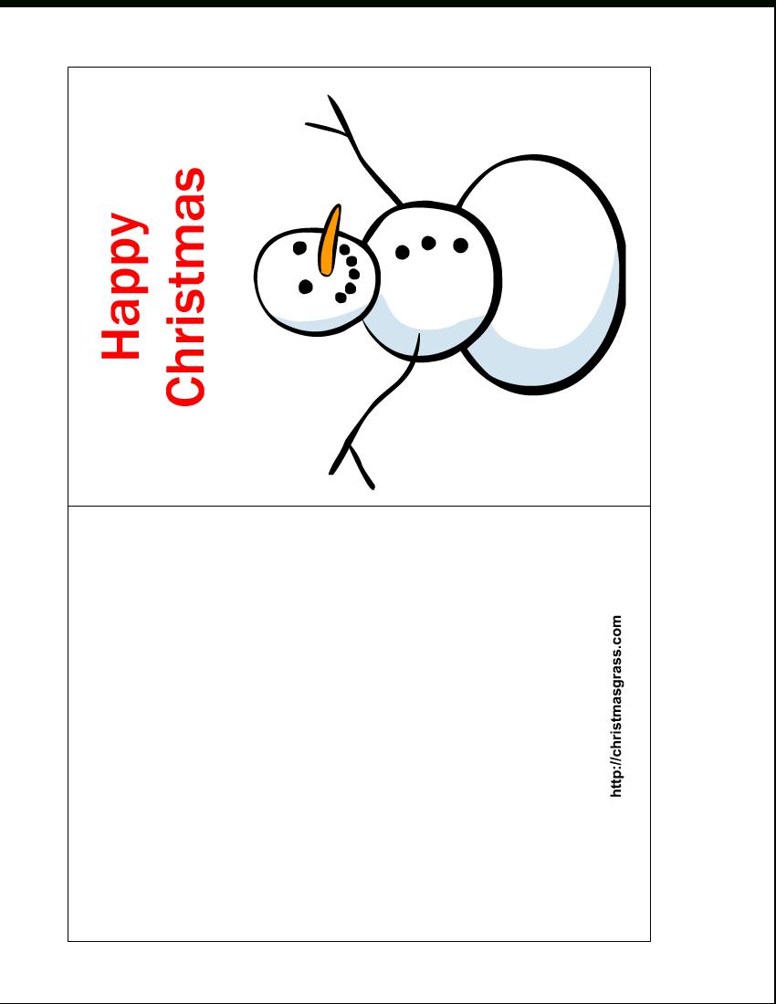 Free Printable Christmas Cards   Free Printable Happy Christmas Card - Free Printable Christmas Card Templates