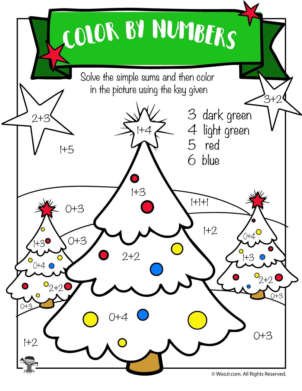 Free Printable Christmas Math Worksheets: Pre K, 1St Grade & 2Nd - Free Printable Christmas Worksheets For Third Grade