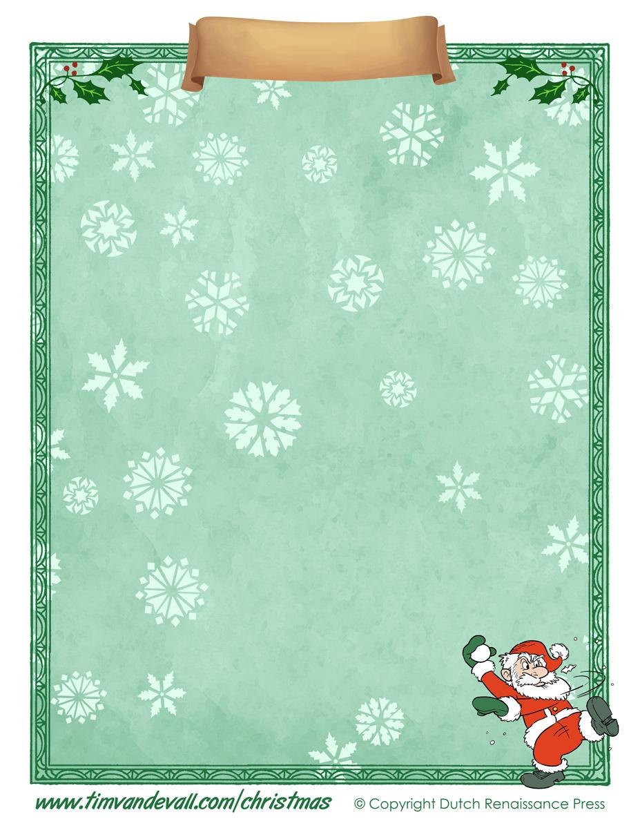 Free Printable Christmas Paper Templates - Free Printable Santa Paper