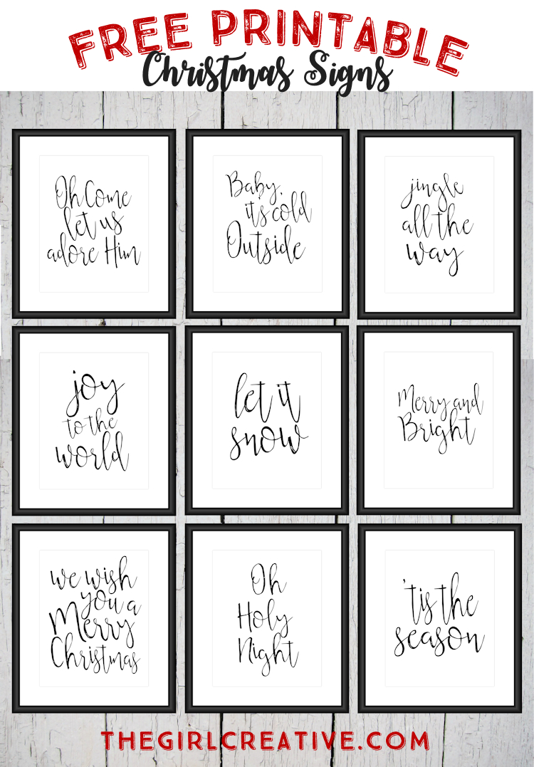 Free Printable Christmas Signs | The Top Pinned | Free Christmas - Free Printable Holiday Closed Signs