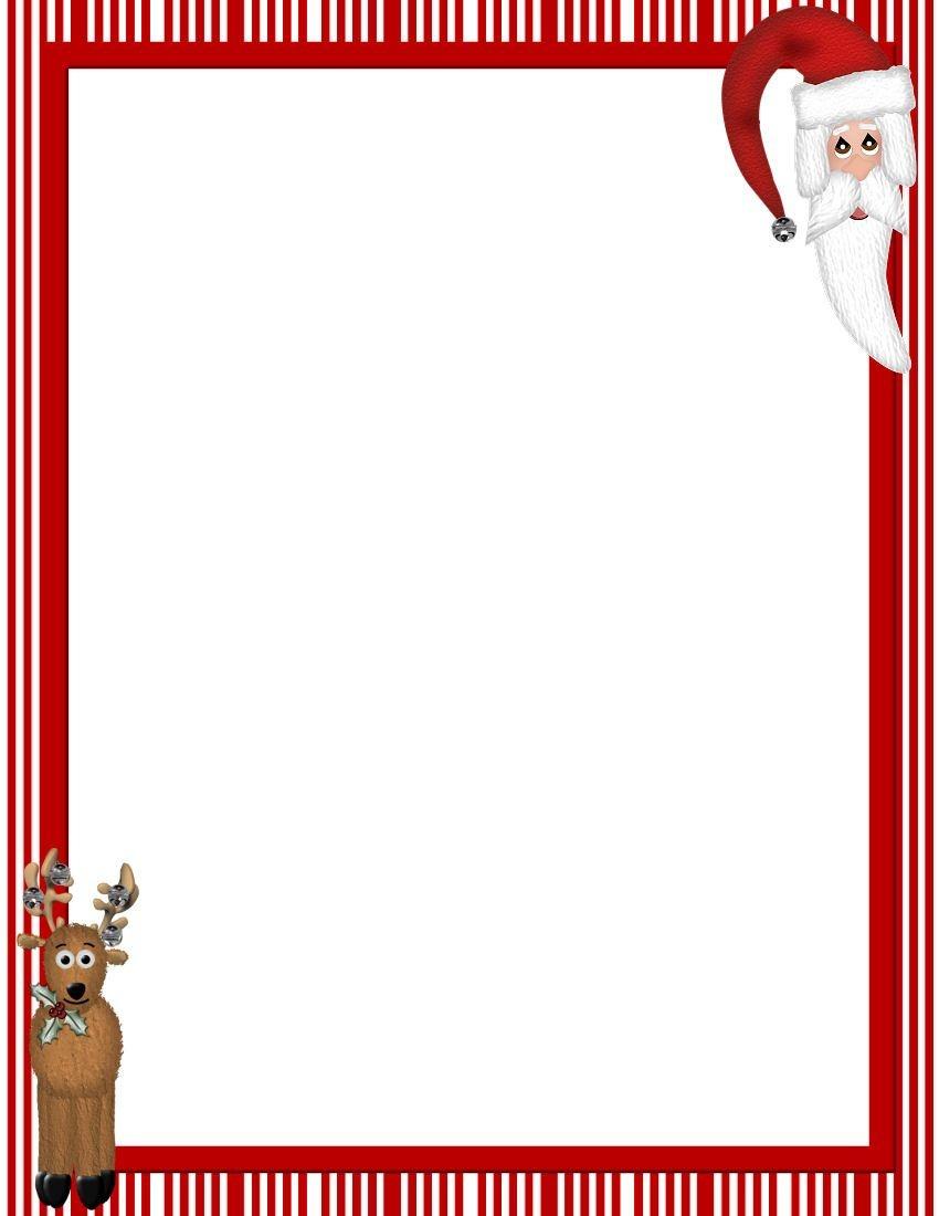 Free Printable Christmas Stationary Borders   Christmasstationery - Free Printable Christmas Frames And Borders