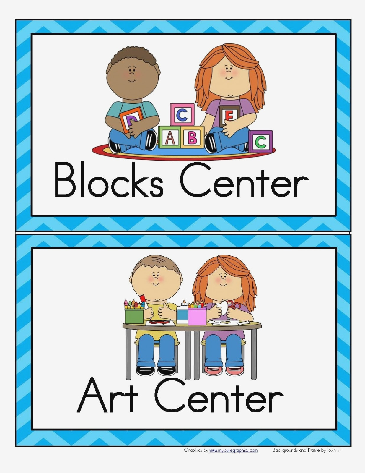 Free Printable Classroom Signs Center Block – Best Home Interior - Free Printable Classroom Signs And Labels