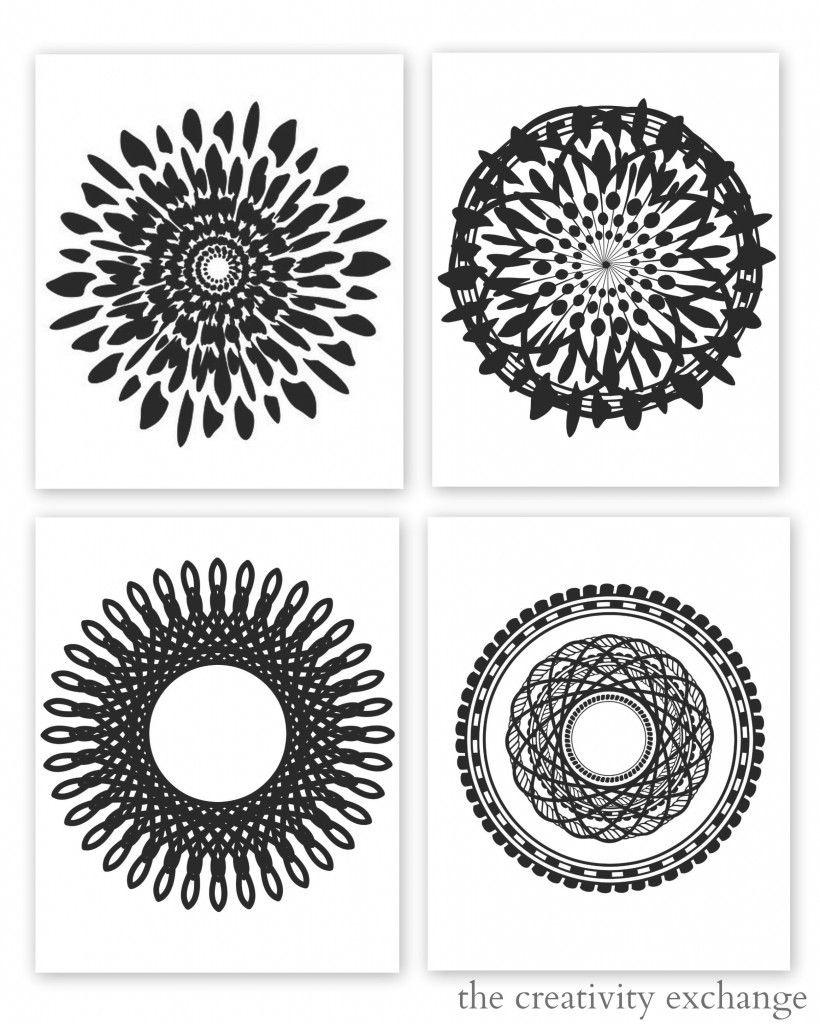 Free Printable Collection Of Modern Black And White Prints   Free - Free Printable Wall Art Black And White