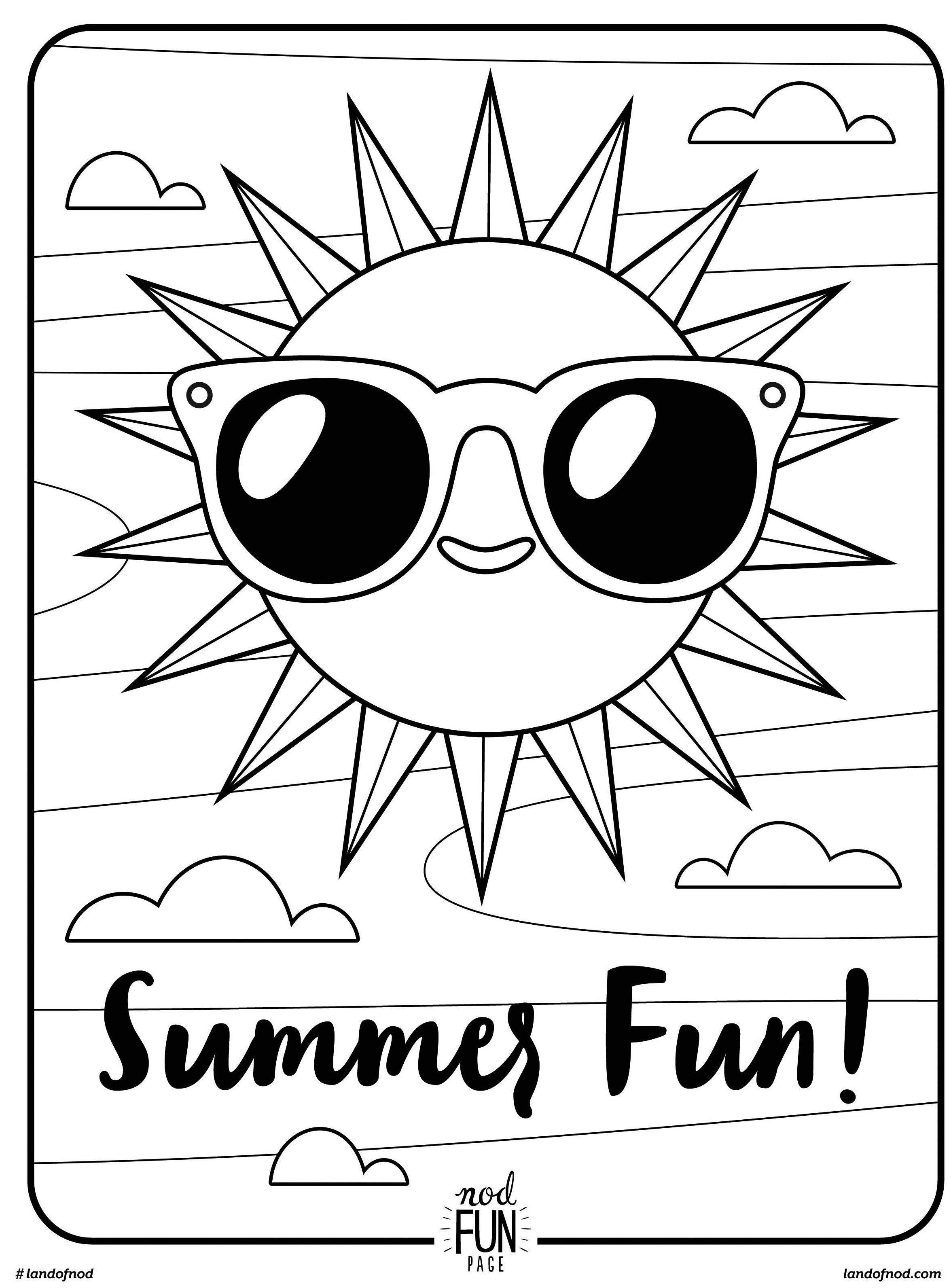 Free Printable Coloring Page: Summer Fun   Summer//underwater - Free Printable Summer Coloring Pages