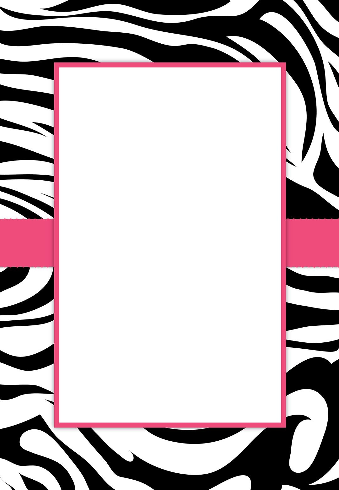 Free #printable Customizable Zebra Stripes #party Invitation | Party - Free Printable Animal Print Birthday Invitations