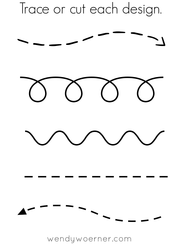 Free Printable Cut & Trace Preschool Worksheet   Awesome Homeschool - Free Printable Worksheets For 3 Year Olds