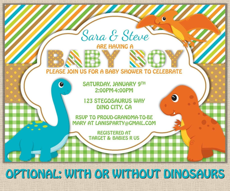 Free Printable Dinosaur Baby Shower Invitation   My Kaden In 2019 - Free Printable Dinosaur Baby Shower Invitations