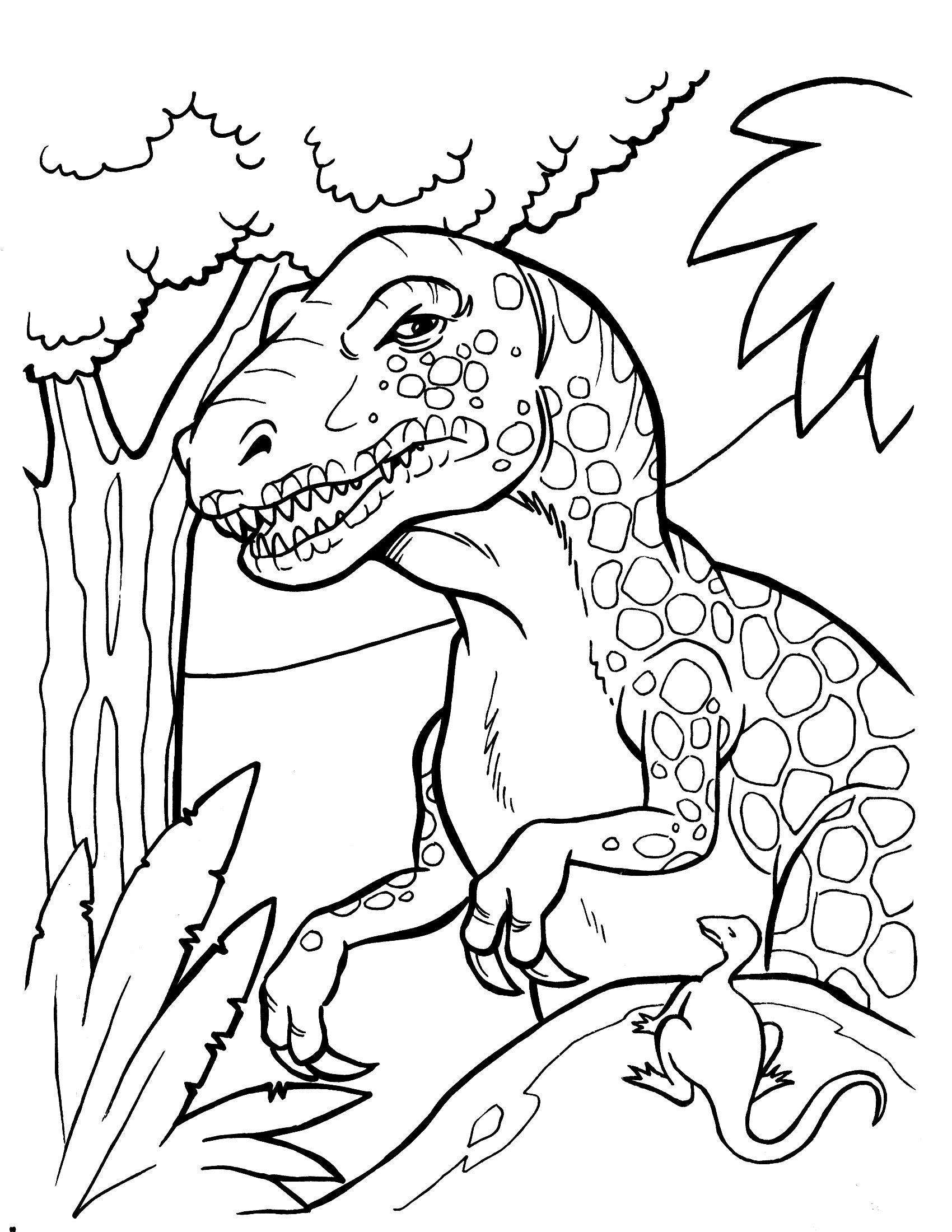 Free Printable Dinosaur Coloring Pages | Clip And Color Part Two - Free Printable Dinosaur Coloring Pages