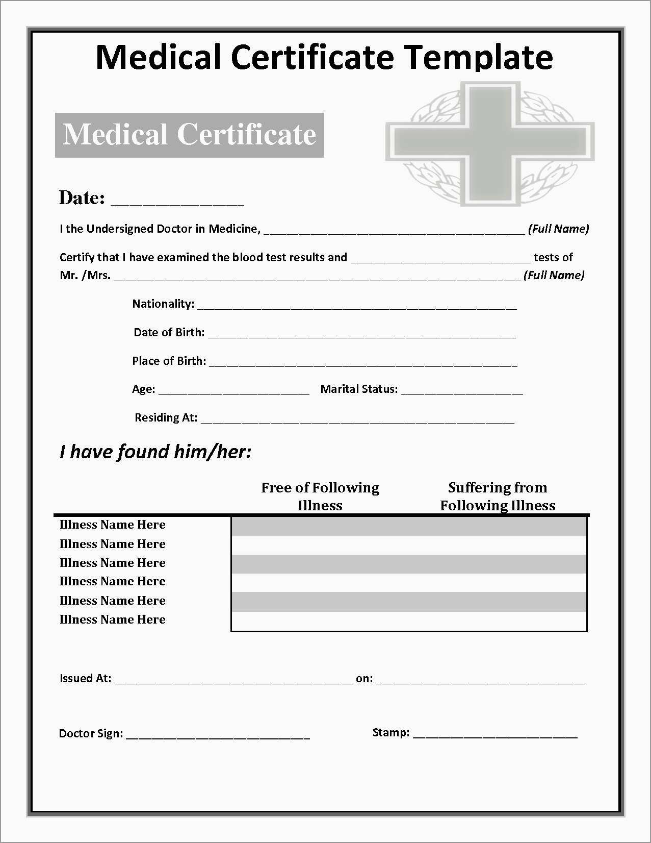Free Printable Doctors Notes Templates Best Free Printable Doctors - Free Printable Doctor Notes