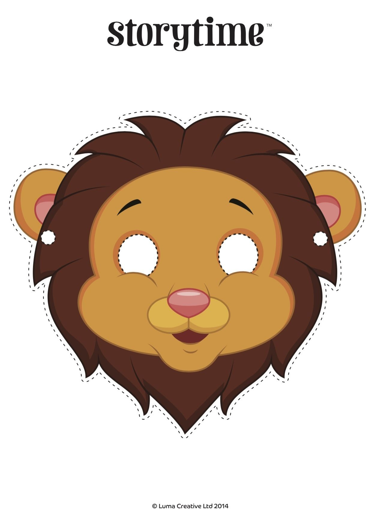 Free Printable Download! Use Our Lion Mask To Act Out Our Lion And - Free Printable Lion Mask