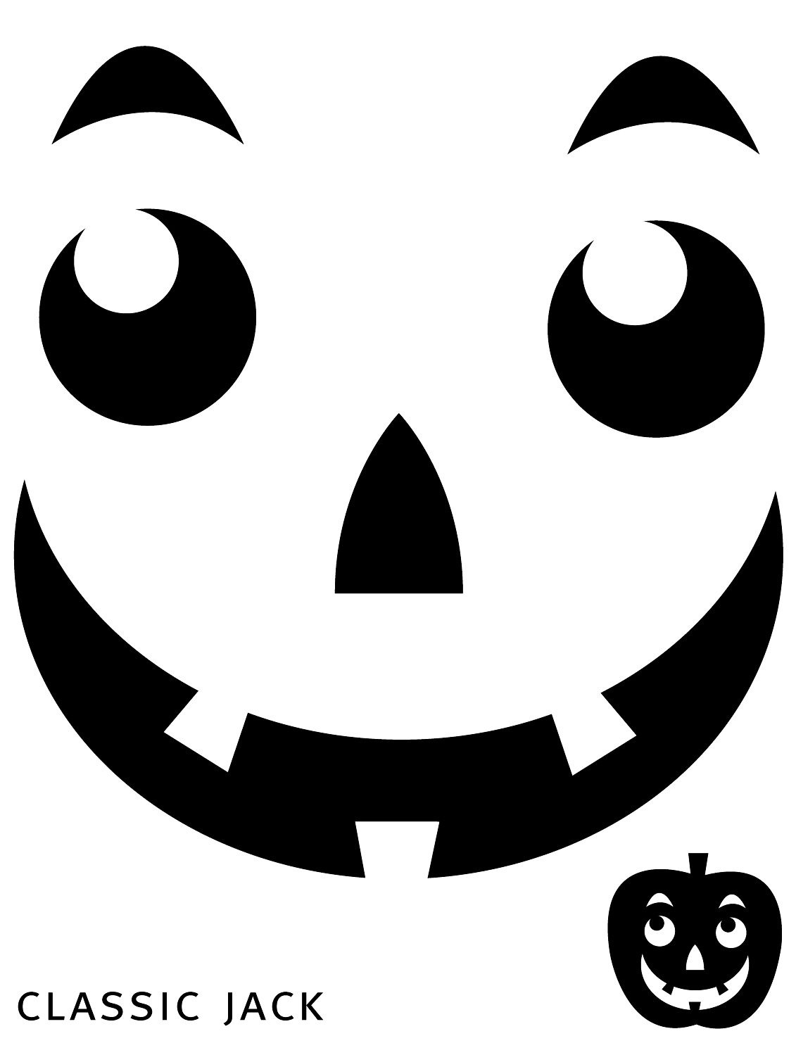 Free Printable Easy Funny Jack O Lantern Face Stencils Patterns - Free Pumpkin Carving Templates Printable