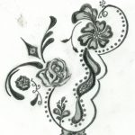 Free Printable Floral Tattoo Designs   Flower Henna Design Four   Free Printable Henna Tattoo Designs