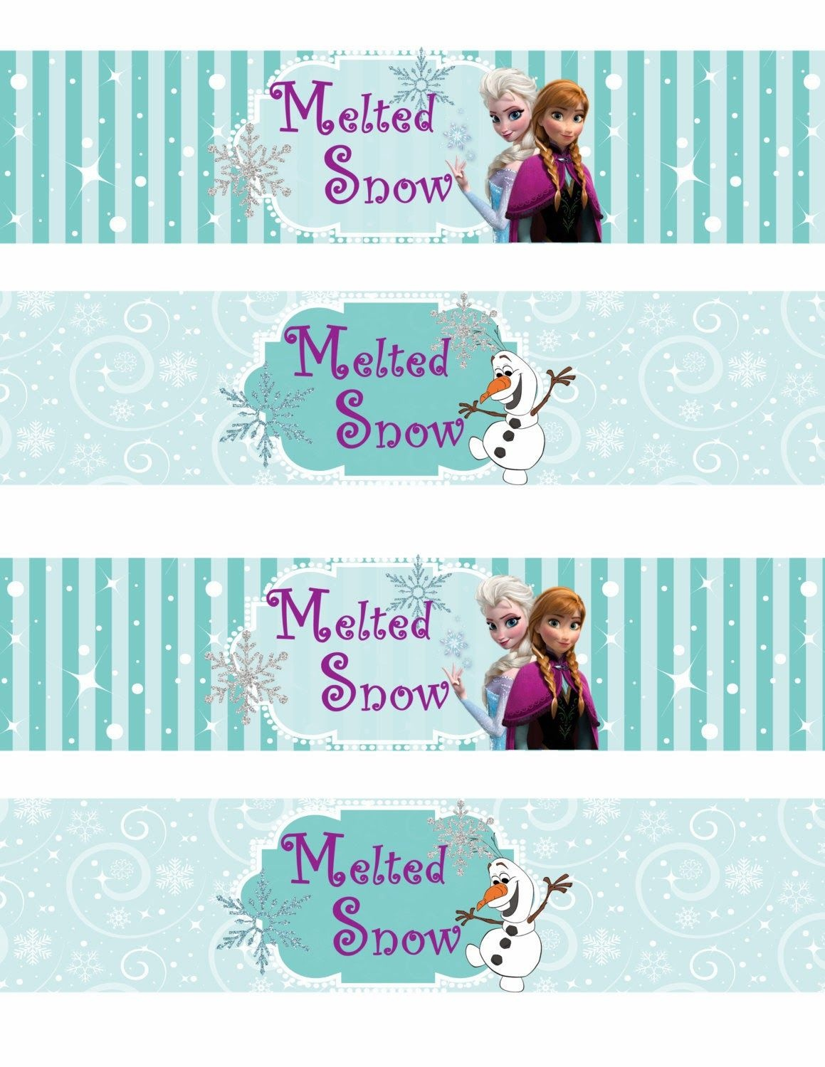Free Printable Frozen Labels. - Is It For Parties? Is It Free? Is It - Frozen Happy Birthday Banner Free Printable