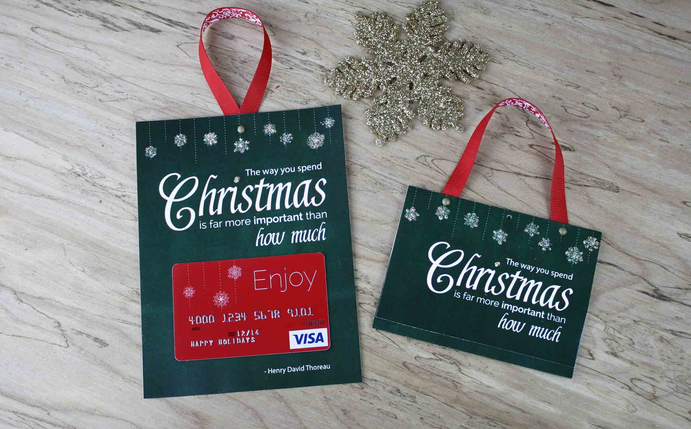 Free Printable  Gift Card Holder Spend Christmas - Free Printable Christmas Money Holder Cards