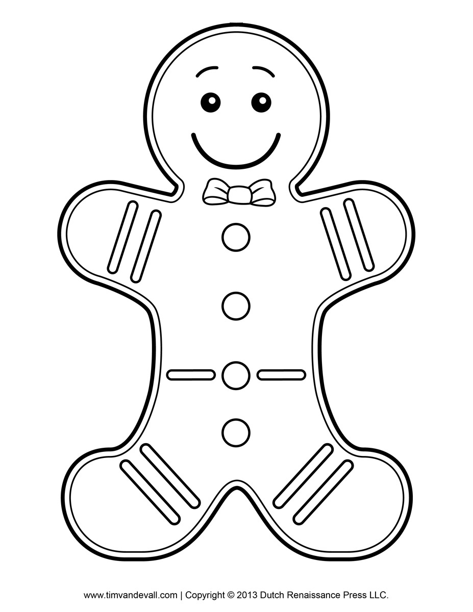 Free Printable Gingerbread Man Clipart Clipartfest - Cliparting - Gingerbread Template Free Printable