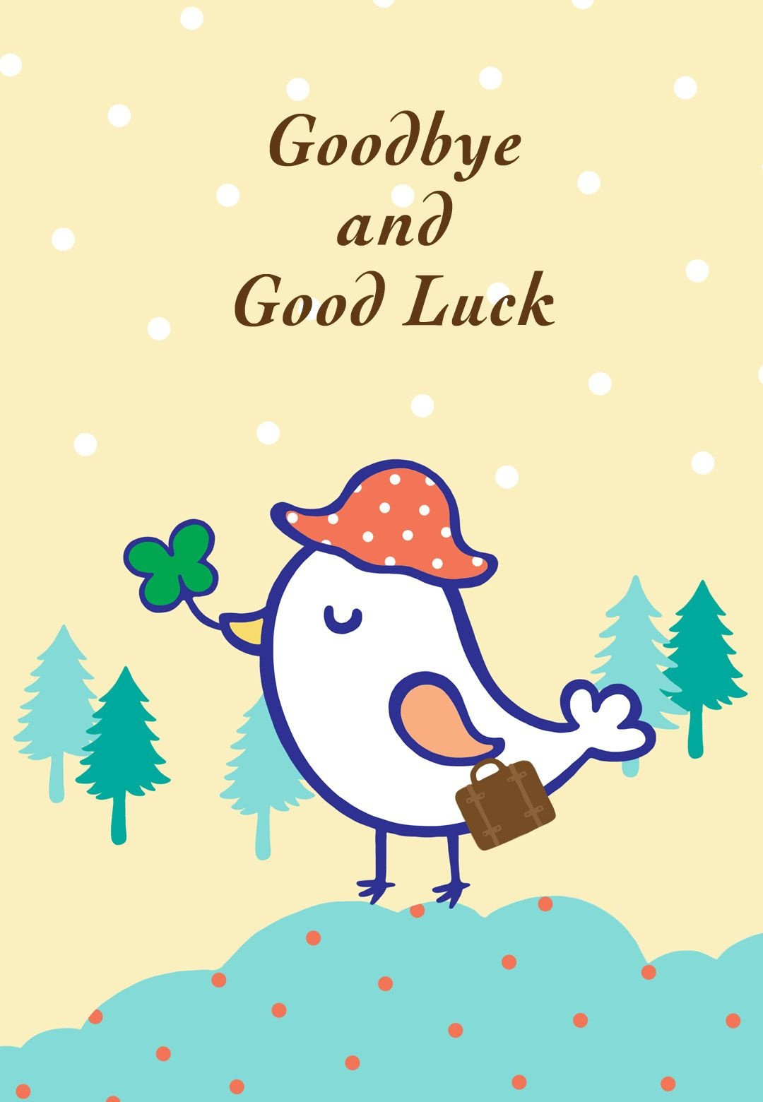 Free Printable Goodbye And Good Luck Greeting Card   Littlestar - Free Printable Farewell Card For Coworker