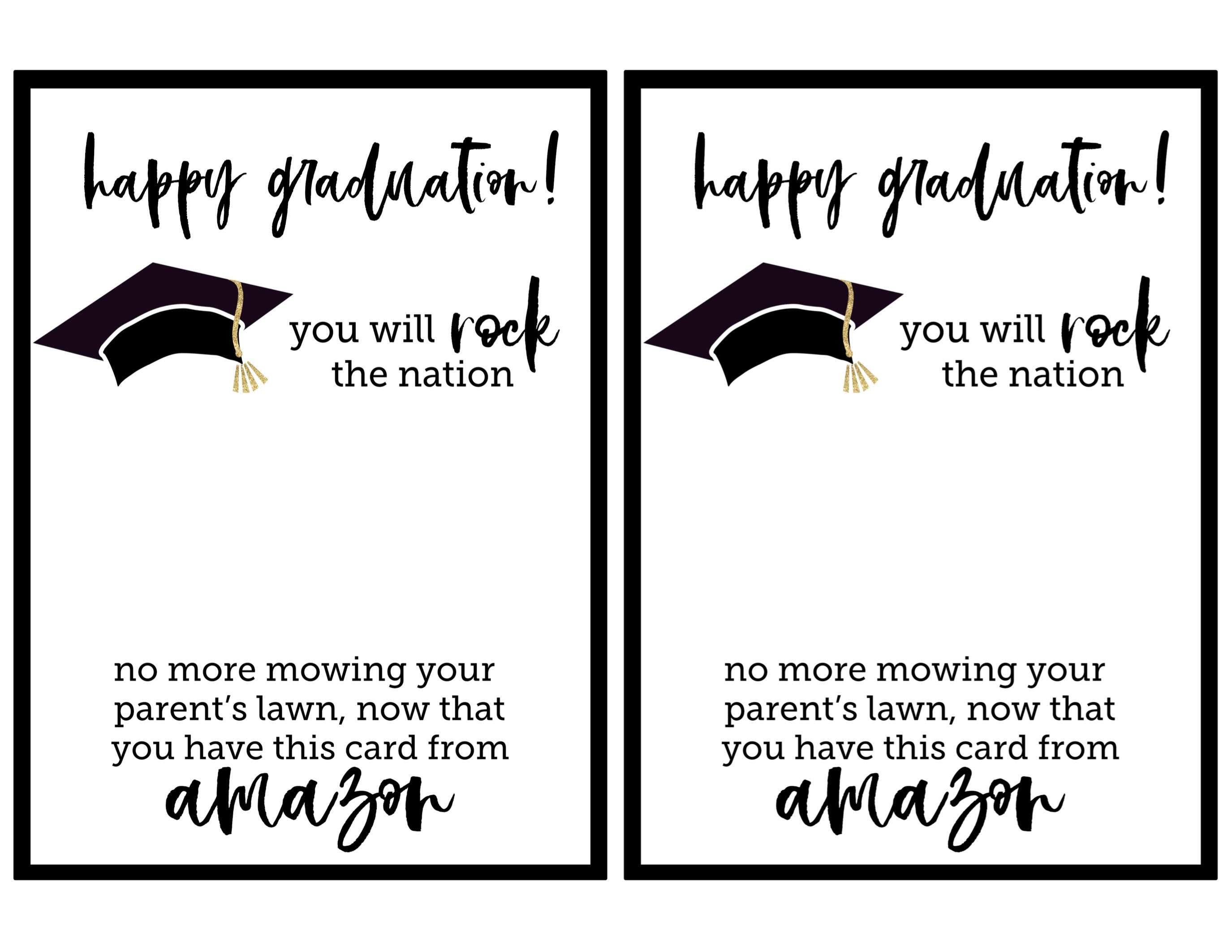 Free Printable Graduation Card - Paper Trail Design - Free Printable Graduation Paper