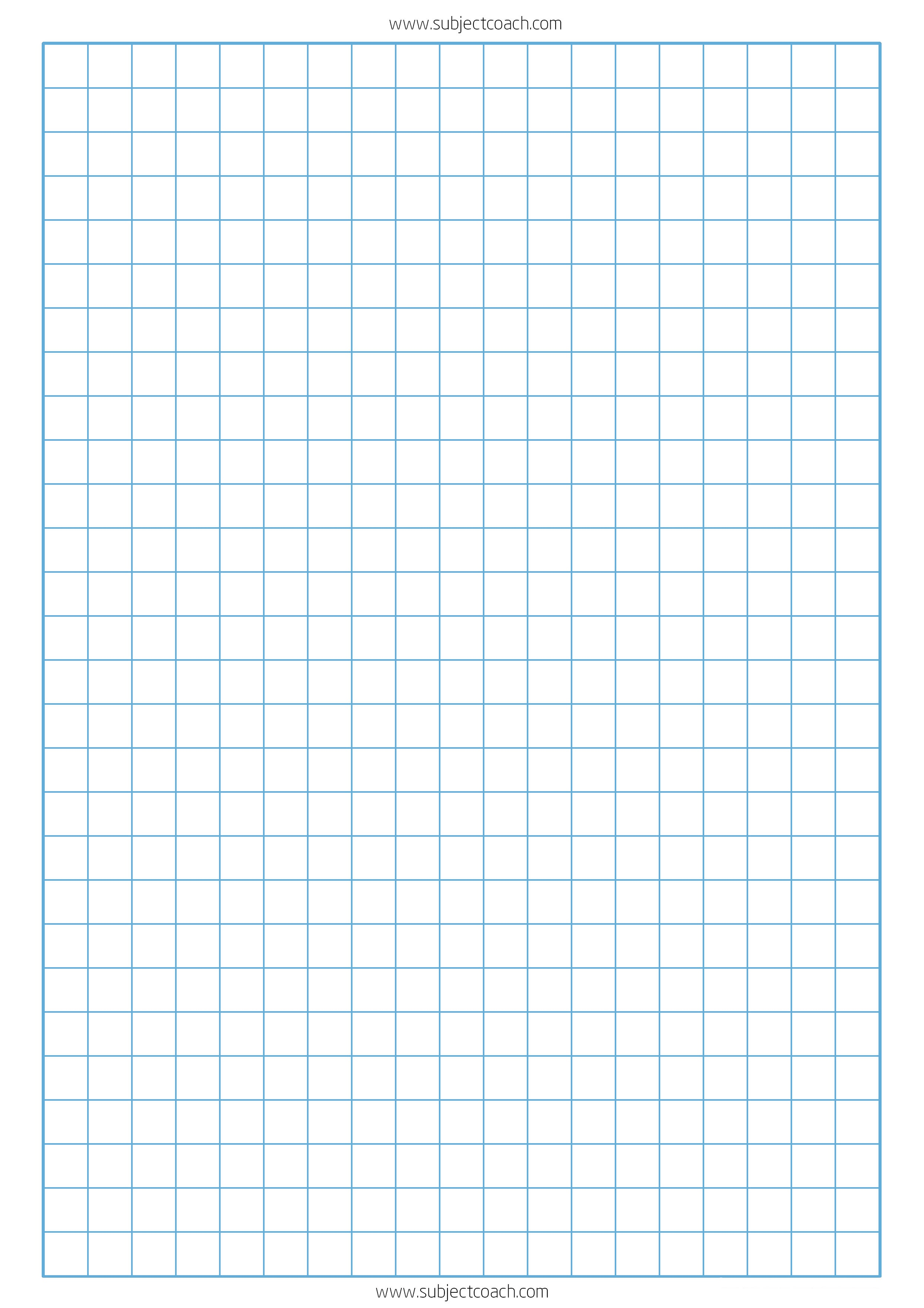 Free Printable Graph Paper 1Cm For A4 Paper   Subjectcoach - Free Printable Squared Paper