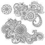 Free Printable Graphics.   Crafts   Mandalas, Dibujos Henna   Free Printable Henna Tattoo Designs