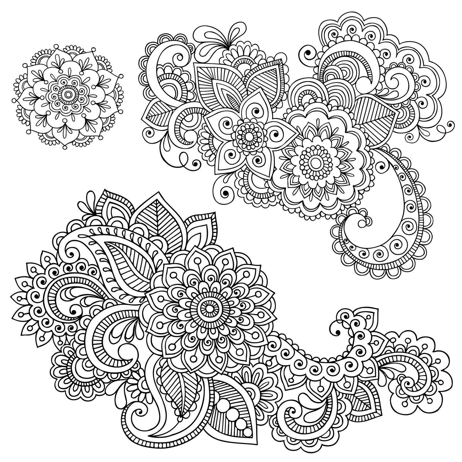 Free Printable Graphics.   Crafts   Mandalas, Dibujos Henna - Free Printable Henna Tattoo Designs