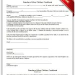 Free Printable Guardian Of Minor Children, Conditional   Sample   Free Printable Legal Documents