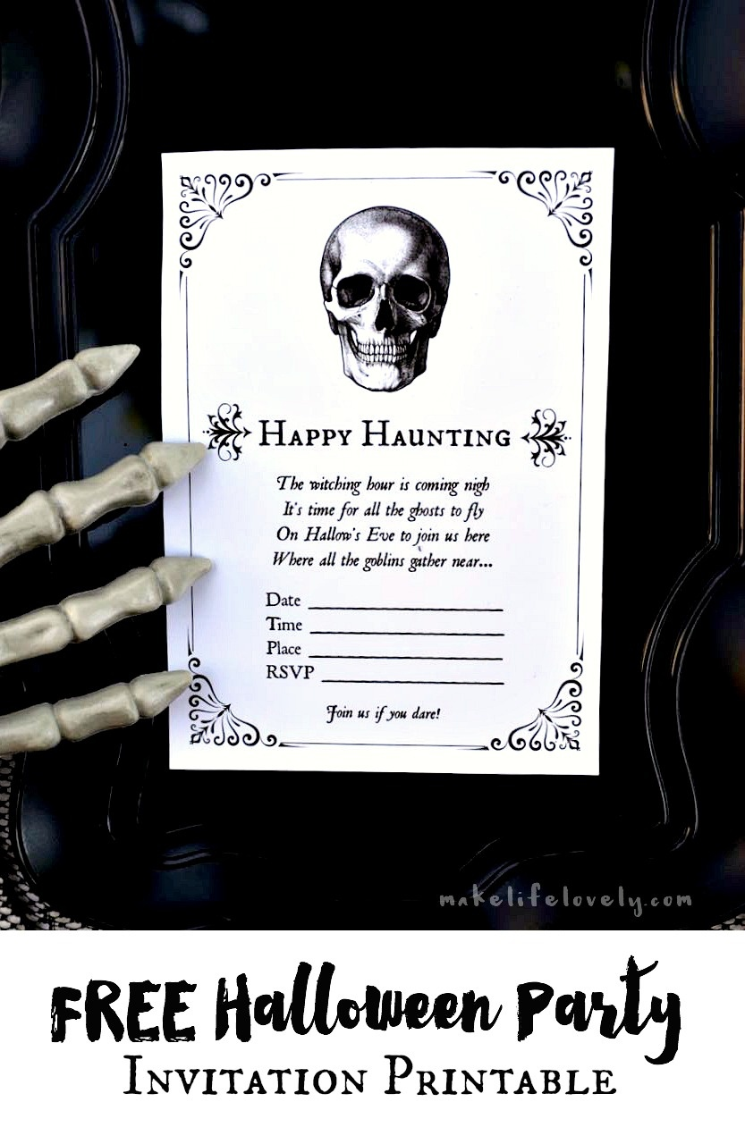 Free Printable Halloween Invitations For Your Spooky Soiree - Free Printable Halloween Invitations For Adults