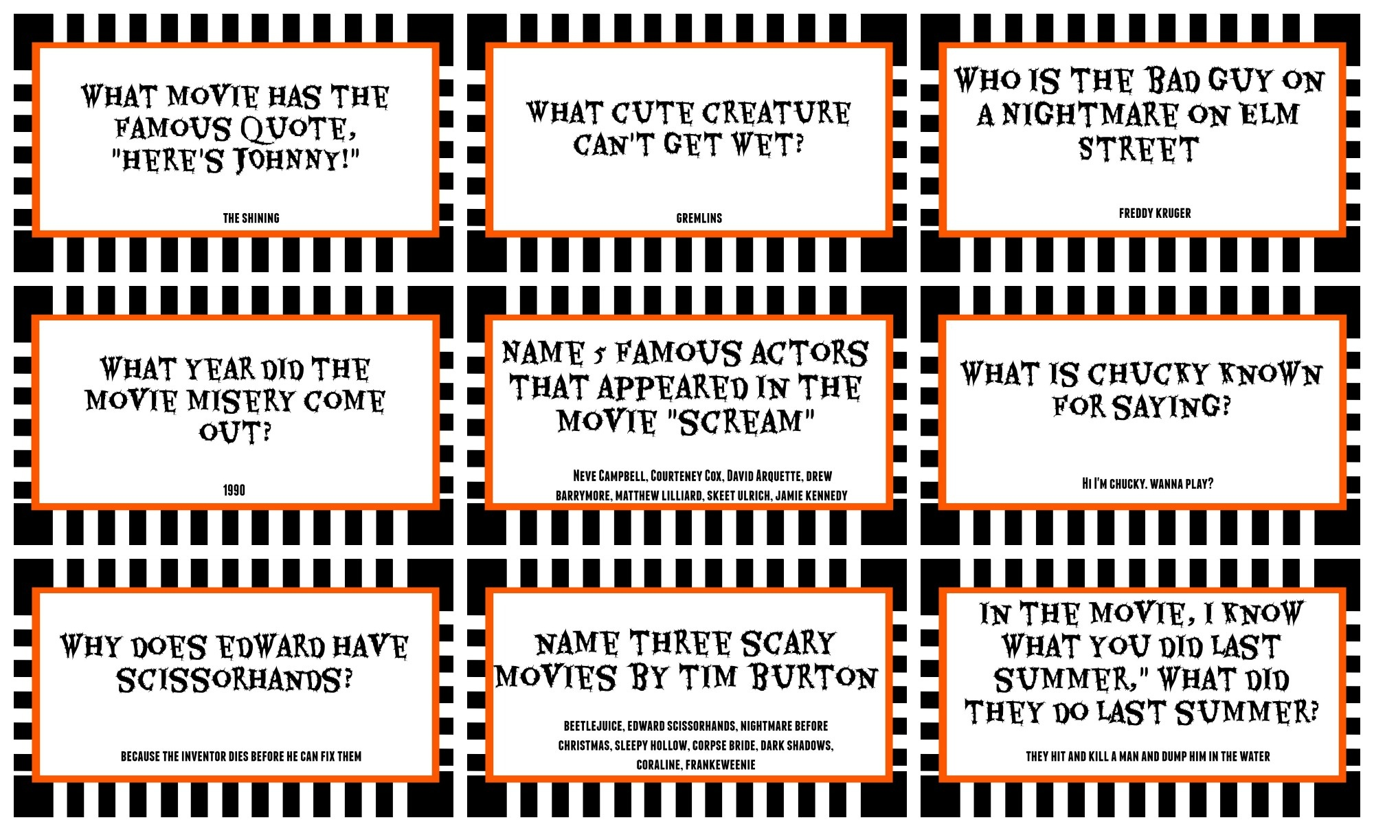 Free Printable Halloween Quiz – Festival Collections - Free Printable Halloween Quiz