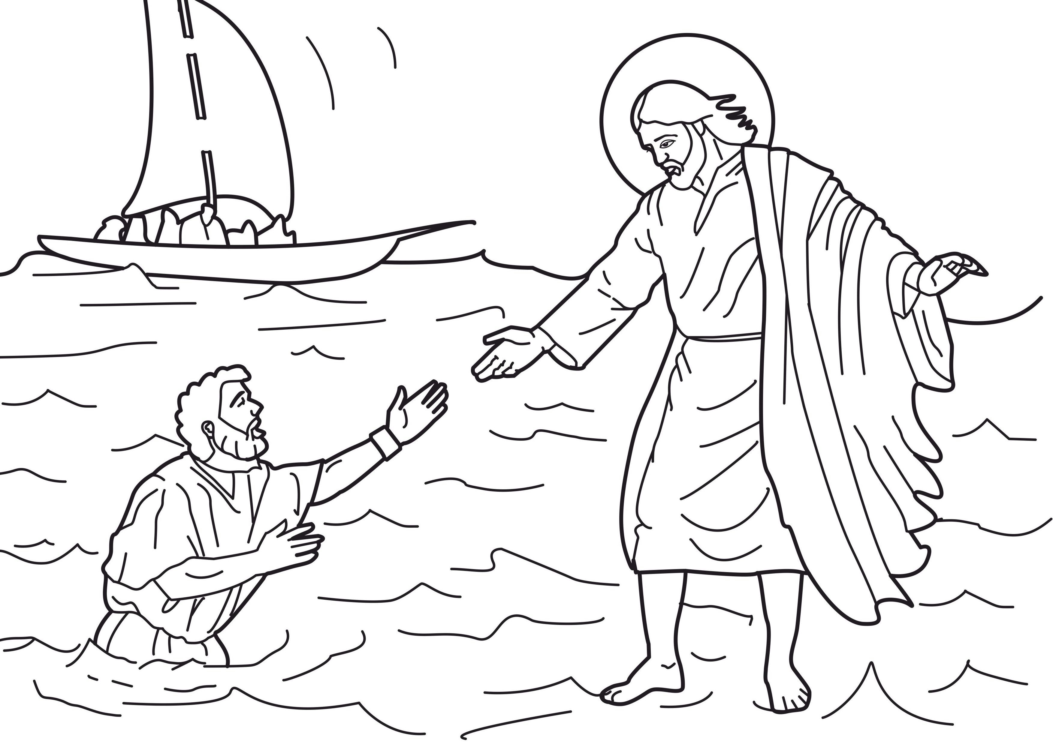 Free Printable Jesus Coloring Pages For Kids | Sunday School | Jesus - Free Printable Jesus Coloring Pages