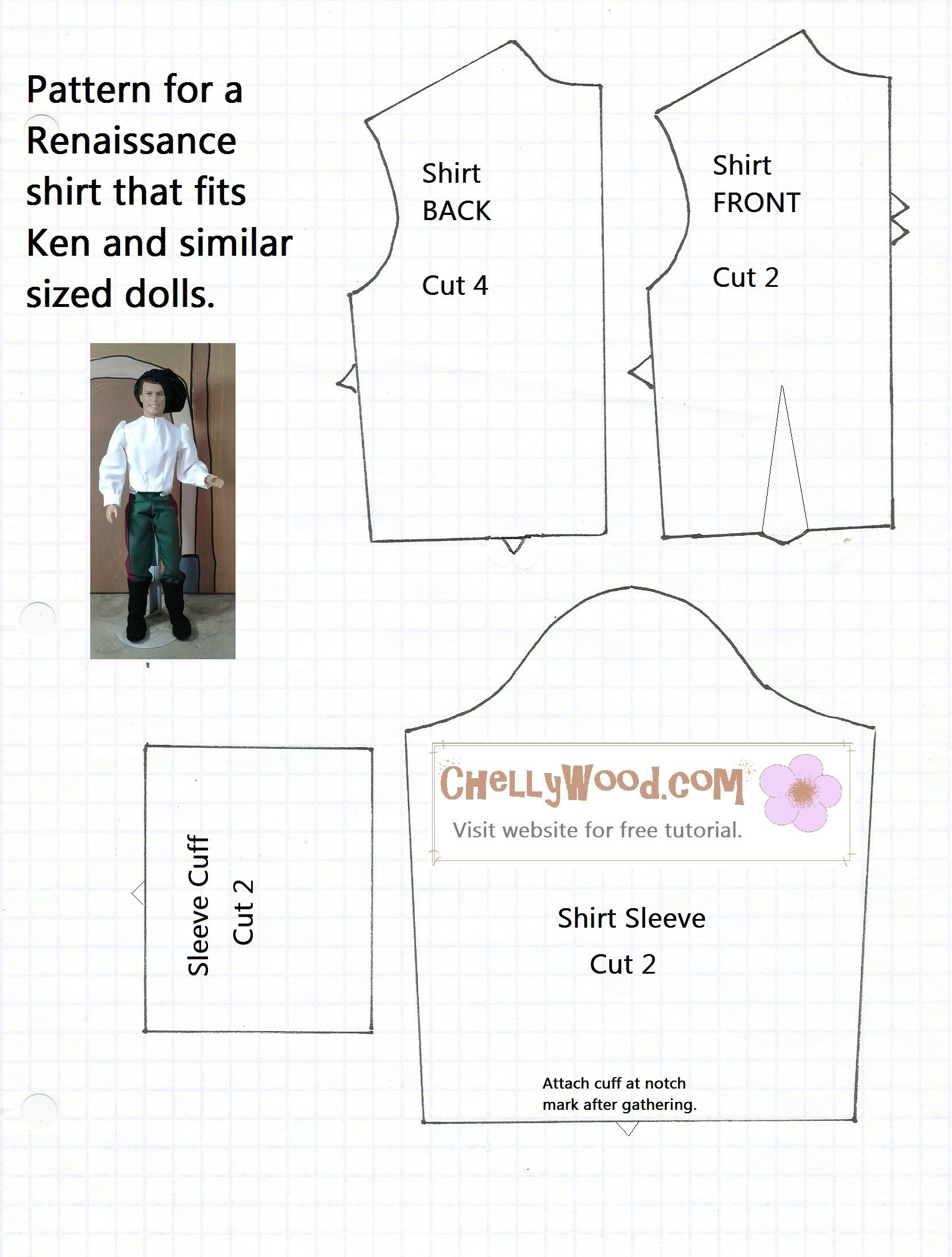 Free Printable Ken Doll Clothes Patterns - Google Search | Barbie - Free Printable Barbie Doll Sewing Patterns Template