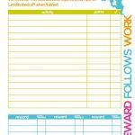 Free Printable Kids Chore & Rewards Chart   For The Home   Chores - Free Printable Reward Charts For Teenagers