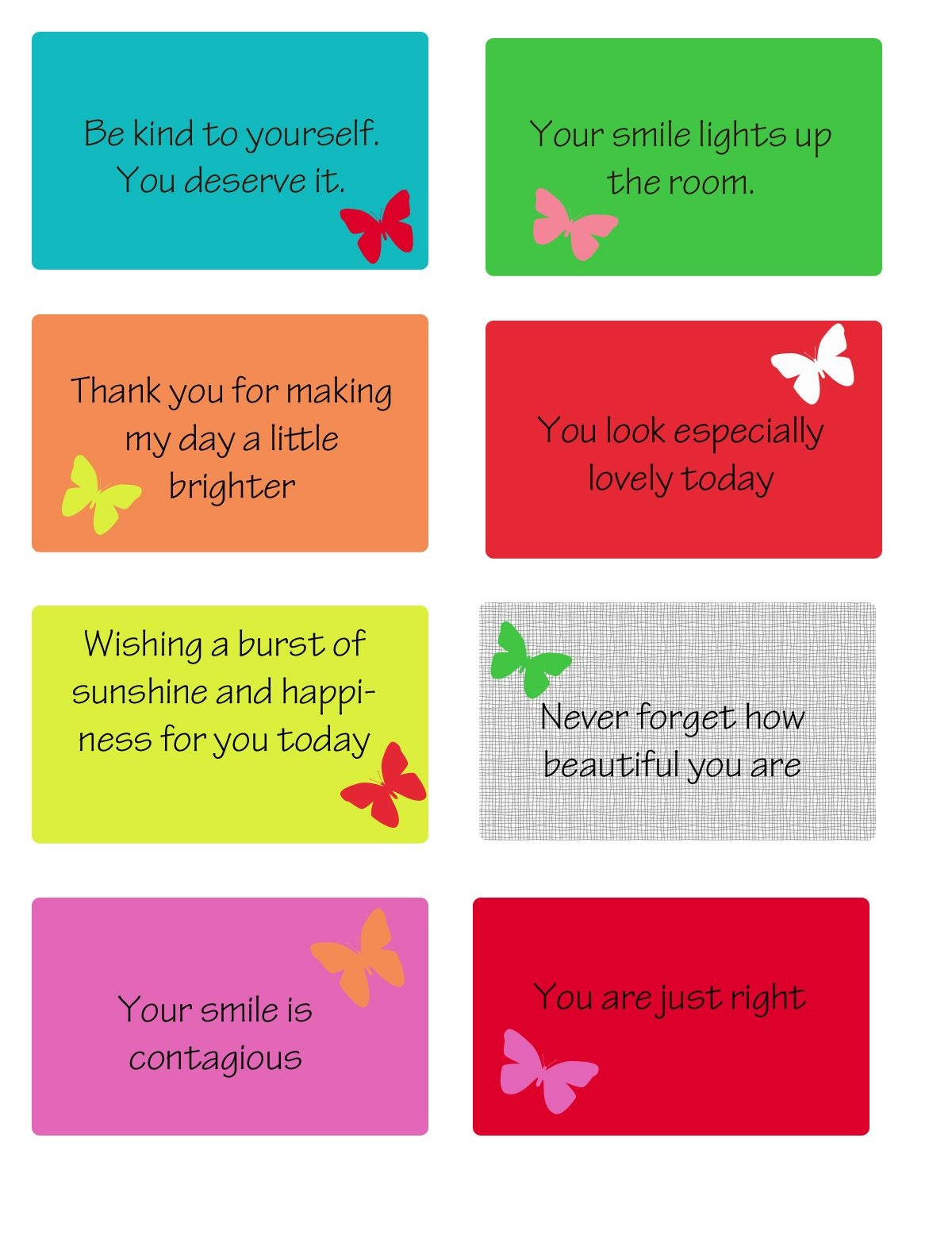 Free Printable Kindness Cards   Random Love   Kindness Projects - Free Printable Kindness Cards