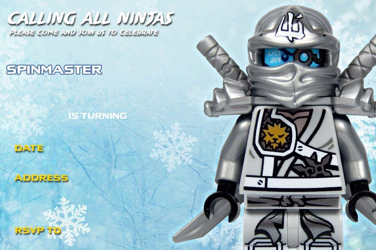 Free Printable Lego Ninjago Birthday Invitation | Lego Party | Lego - Lego Ninjago Party Invitations Printable Free