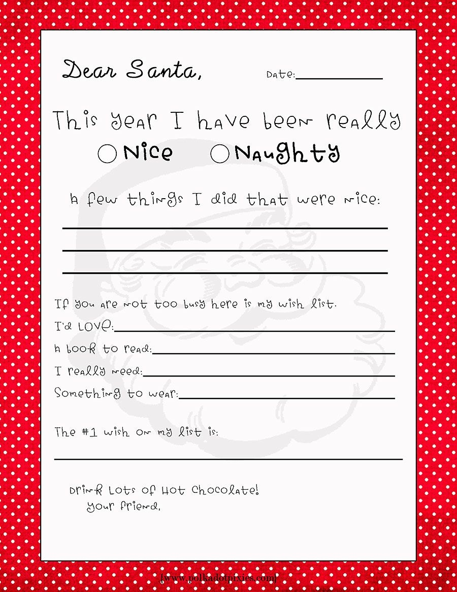 Free Printable Letter From Santa Template Collection   Letter Cover - Free Santa Templates Printable