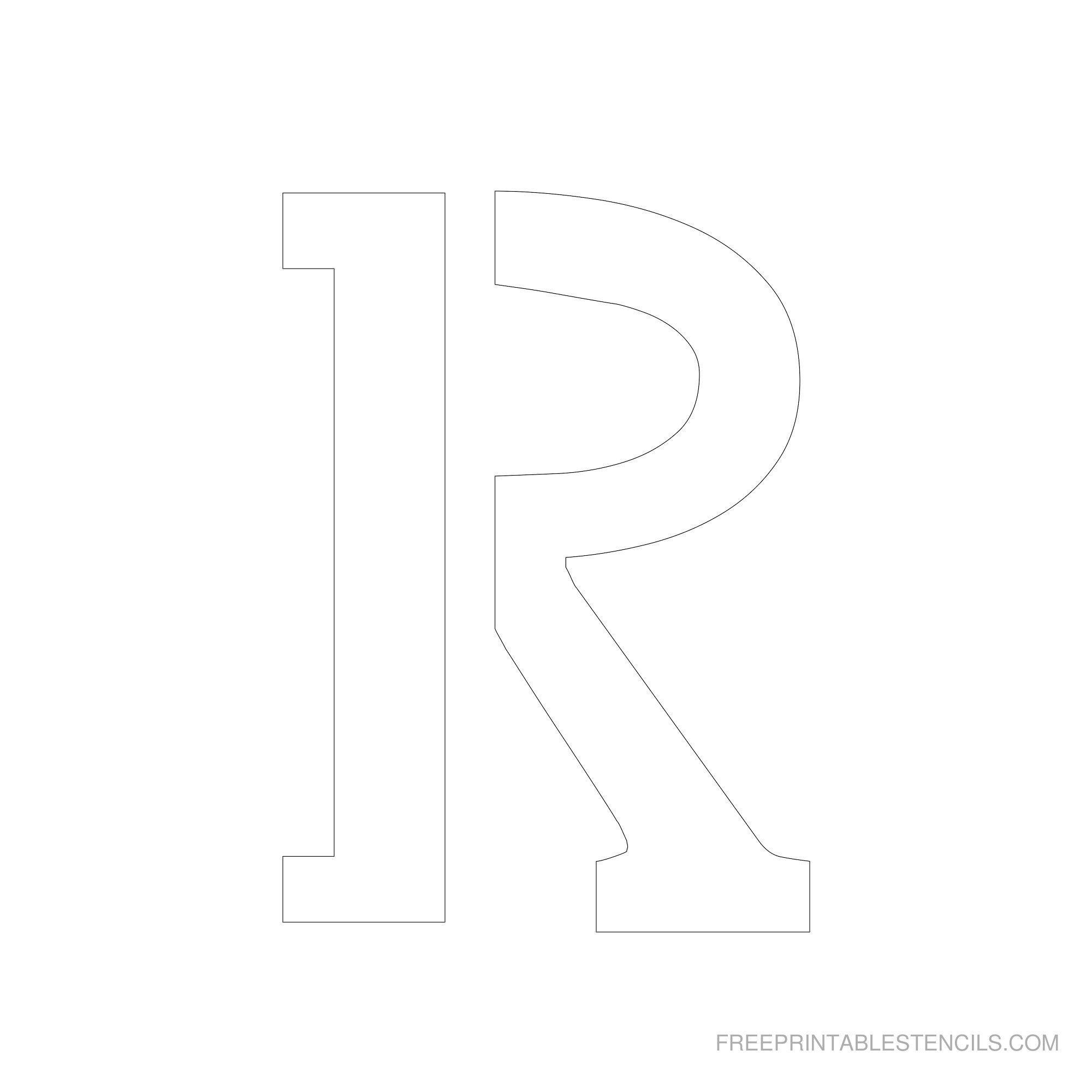Free Printable Letter Stencils   Free Printable 6 Inch Alphabet - Free Printable Letter Stencils