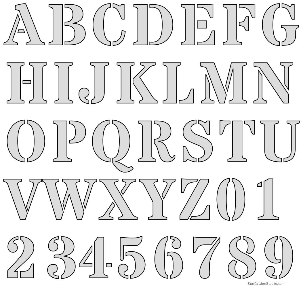 Free Printable Letter Stencils - Free Printable Letter Stencils