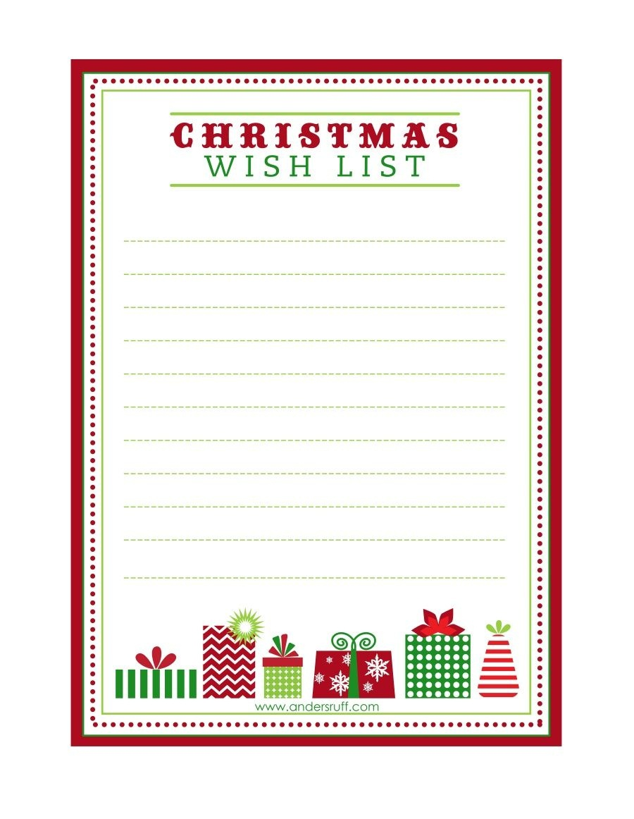 "Free Printable ""letter To Santa"", ""christmas Wish List"" And Tag - Free Printable Christmas Wish List"