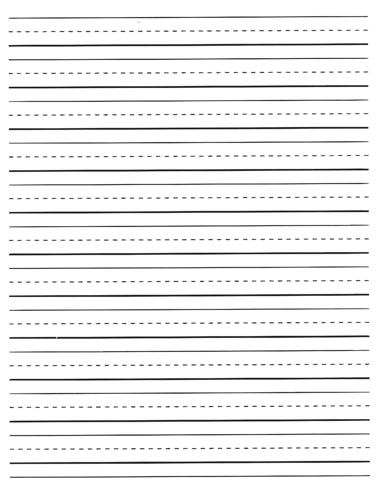 Free Printable Lined Paper For Kids Writing   World Of Label - Free Printable Lined Handwriting Paper