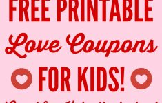 Free Printable Love Coupons For Couples On Valentine's Day!   Catch – Free Printable Love Coupons For Wife