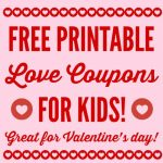 Free Printable Love Coupons For Kids On Valentine's Day - Free Printable Coupon Book For Boyfriend