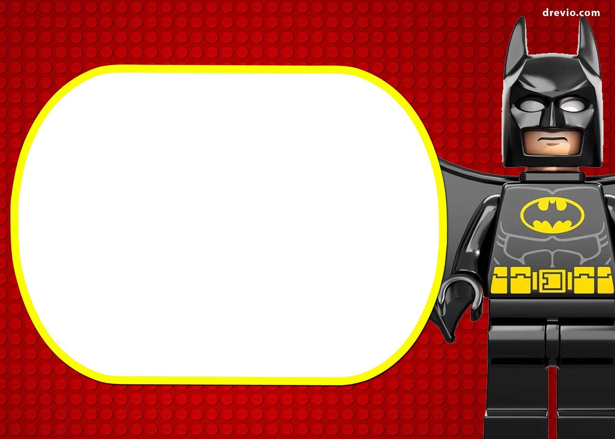 Free Printable Marvel's Lego Invitation   Free Printable Birthday - Lego Batman Invitations Free Printable