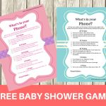 Free Printable Modern What's In Your Phone Baby Shower Game   Baby   What's In Your Cell Phone Game Free Printable