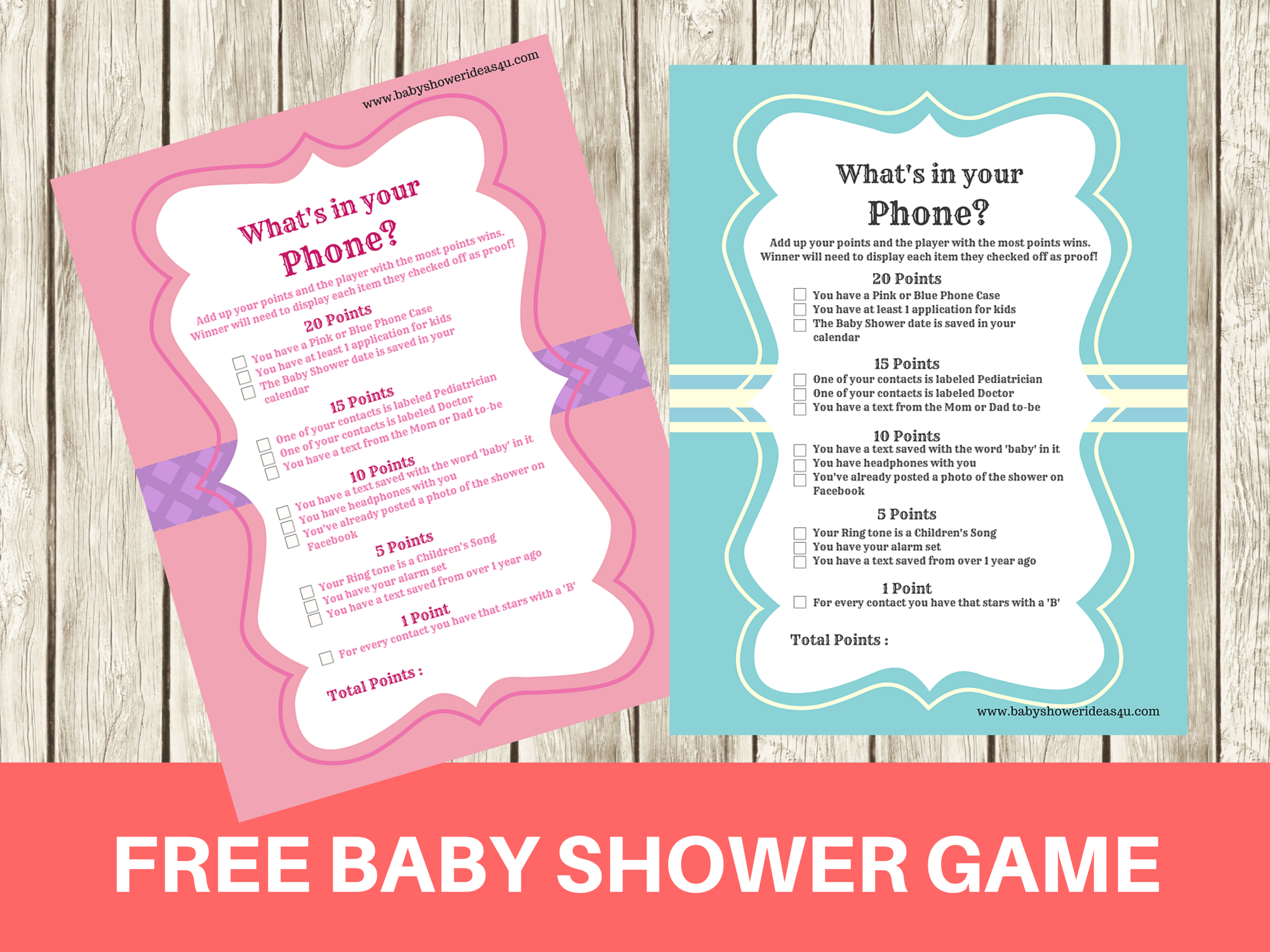 Free Printable Modern What's In Your Phone Baby Shower Game - Baby - What's In Your Cell Phone Game Free Printable