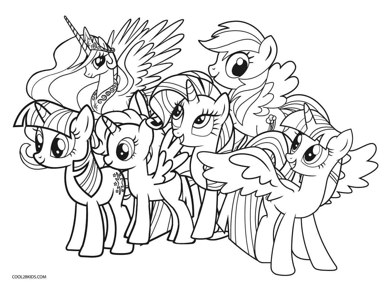 Free Printable My Little Pony Coloring Pages At My Little Pony - Free Printable Coloring Pages Of My Little Pony