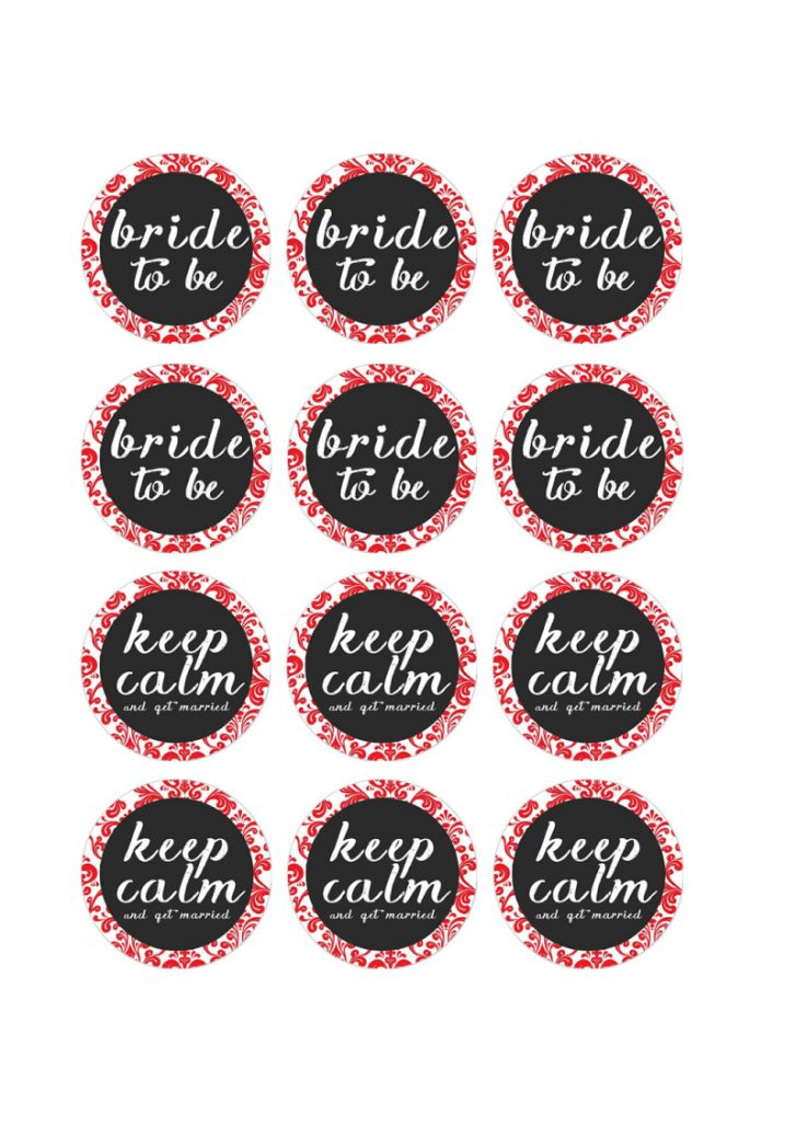 Free Printable Cupcake Toppers Bridal Shower