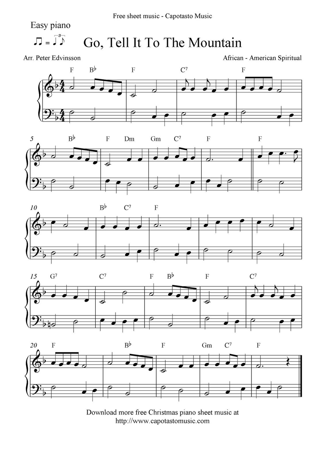 Free Printable Piano Sheet Music   Free Sheet Music Scores: Easy - Christmas Music For Piano Free Printable
